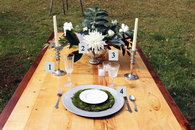 Silver Natural Glam Table