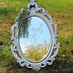 Ornate Oval Silver Mirror