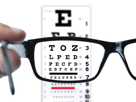 What is the typical procedure for an eye exam?