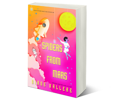 excerpt: SPIDERS FROM MARS, Sylvia Stryker Space Case Cozy Mystery #4