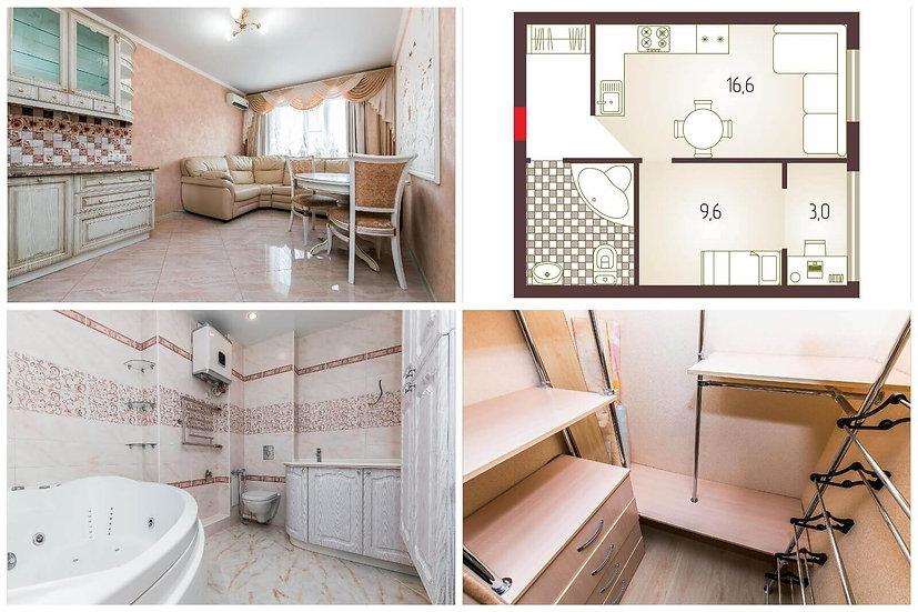 Однокомнатная квартира с качественным ремонтом, мебелью и бытовой техникой.