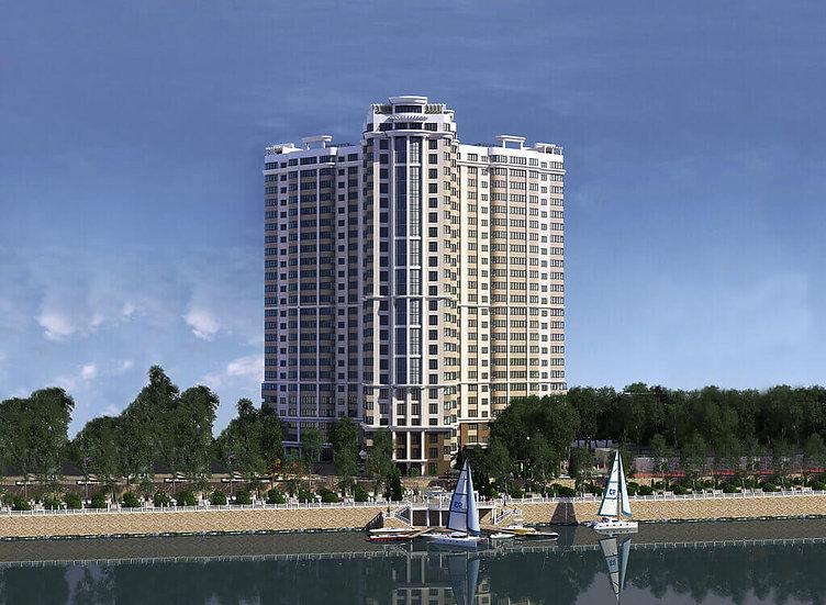 """Однокомнатная квартира в ЖК """"Резиденция"""" с видом на реку."""