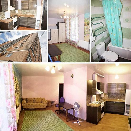 Квартира студия с ремонтом и мебелью в Российском.
