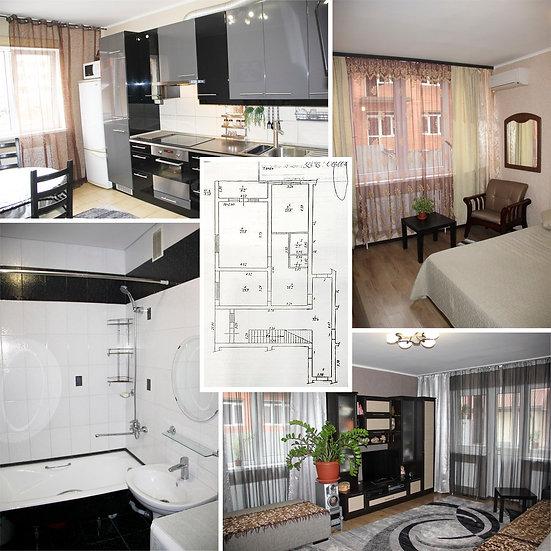Двухкомнатная квартира с ремонтом, мебелью и бытовой техникой в пос. Российский