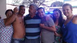 Família Carvalho, reunida e feliz.