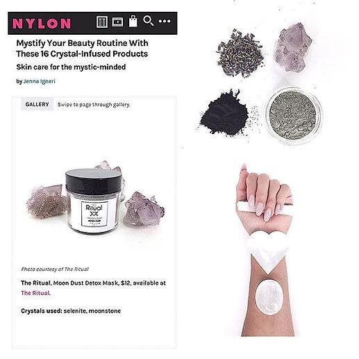 nylon magazine moon dust detox mask beauty