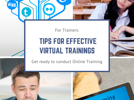 For Trainers: Tips for effective virtual trainings