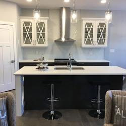 White and Dark Grey Cabinets