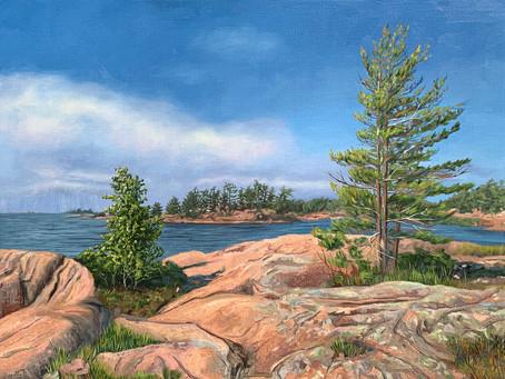 New Work: Windswept Pines