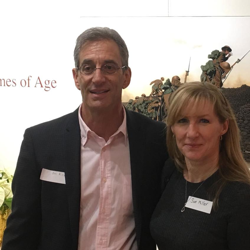 with fellow artist Ken Kirsh