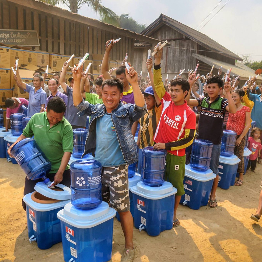 Adopt a Village in Laos distributed water filters to 623 families, supporting about 3000 villagers in the rural areas of northern Laos in the 2017-18 season. They distributed to 7 villages this year, bringing their total over nine years to serving just under 20,000 people!