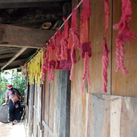 Dyeing the Land, Installation - North Vietnam 2018