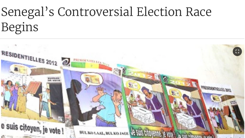 Senegal's Controversial Election Race Begins