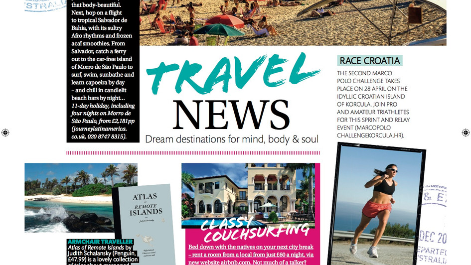 Zest Magazine, Travel News