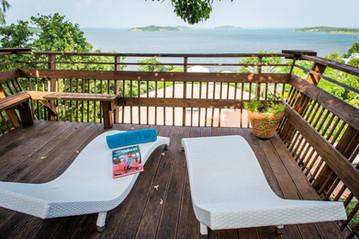 Terrasse vue mer le François Martinique