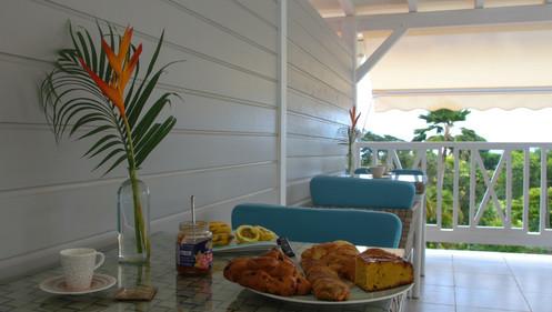 Petit déjeuner maison d'hôtes en Martinique