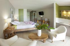 Salon chambre hôtel La Pagerie Martinique