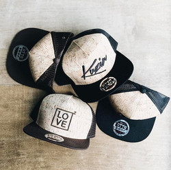 These cork style snapbacks for _thekatinas are so rad! 🎼🎧It's crazy how many headwear options we h