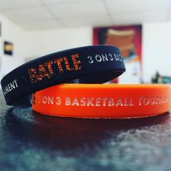 #custom #bracelet #debossing #basketball