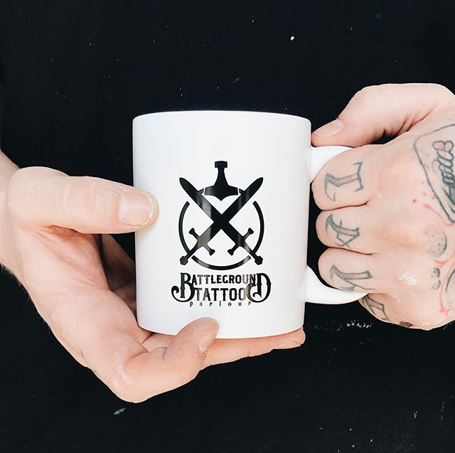 Nothing like starting the morning with a nice #cupofjoe ☕️ these _battle_ground_tattoo_parlour mugs
