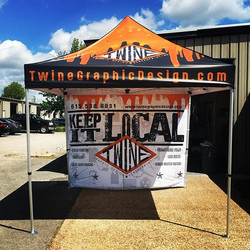 Little taste of the set-up for Brewfest coming up!! We will be printing a limited edition T-shirt on
