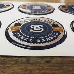 These domed decals we produced are super cool