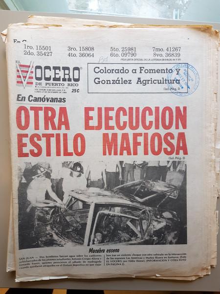 El Vocero, 1984.