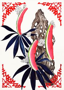 Sans Titre (Shangaï) Avec Sébastien Gouju, Encre de chine, aquarelles, acrylique et graphite sur papier. 52,7 x 37,8 cm, 2019