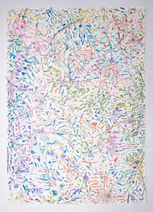 Pot-pourri, Peinture acrylique et encre sur papier, 50 x 70cm, 2020