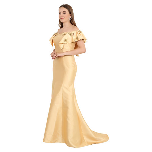 Golden Mermaid Gown
