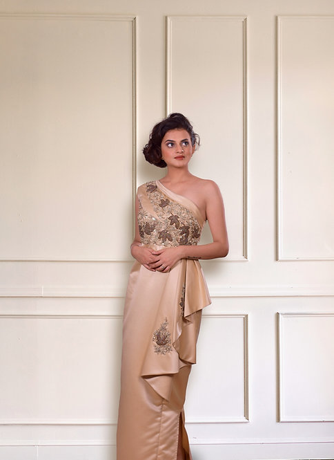 Golden Apricot Gown