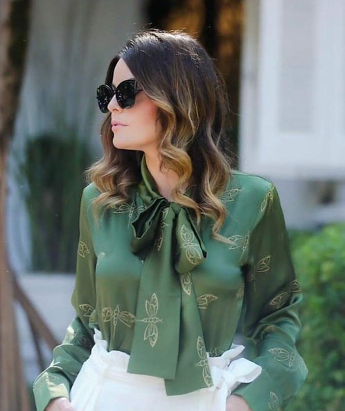 Dragonfly Bow Blouse