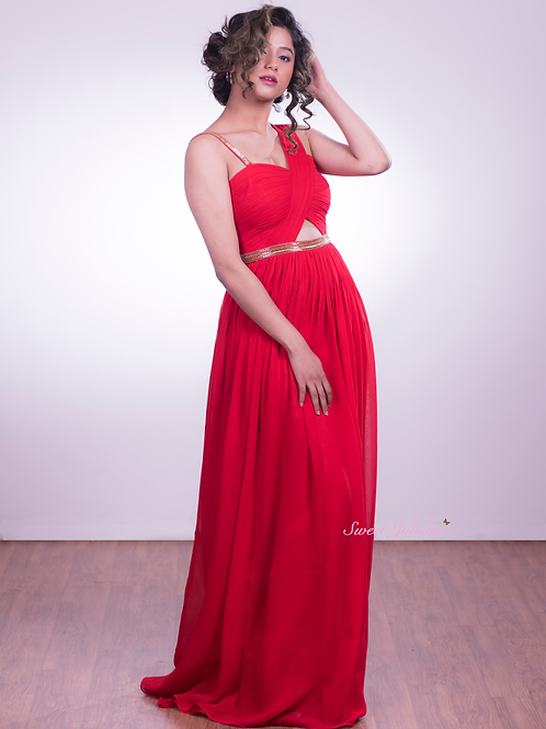 Scarlet Red Gown