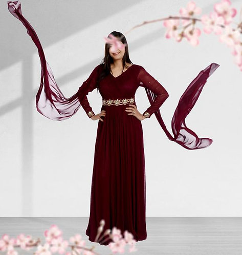 Ruby Wine Gown