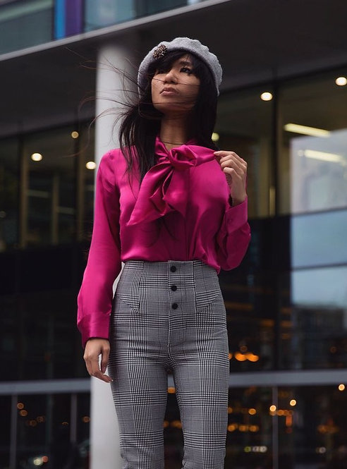 Peony Pink Bow Blouse