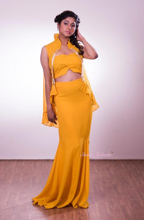 Freesia Yellow Blouse and Skirt