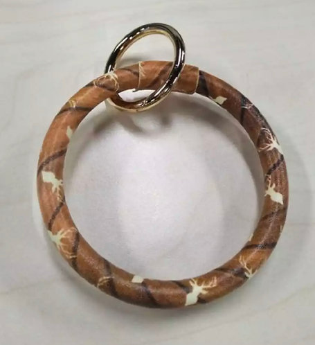 Rustic Trophy Deer Keychain Bracelet