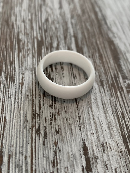 Arctic White Silicone Ring