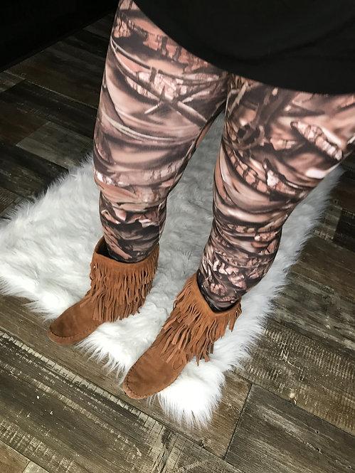 Womens Natural BNB Camo Leggings