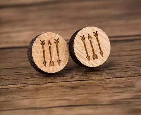 Arrow Stamped Wooden Studs