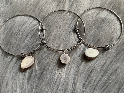 Antler Slice Bangle Bracelet