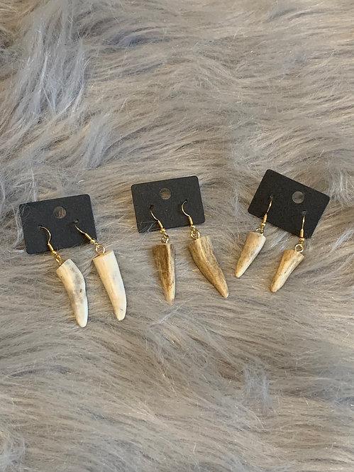 Antler Point Drop Earrings (gold)