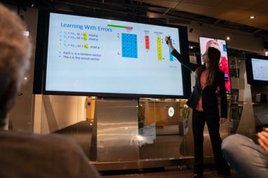 Emily Stamm presenting LWE