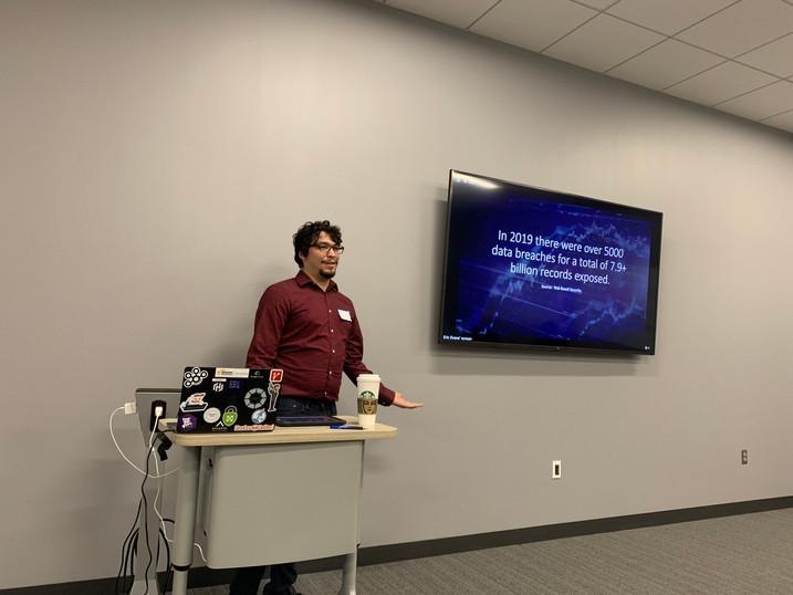 Eric Evans presenting