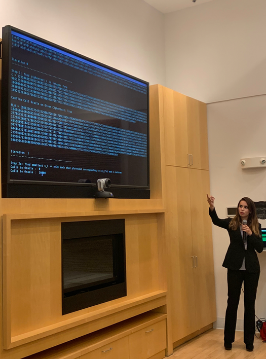 Emily presenting technical demo