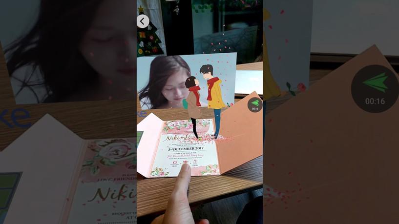 AR wedding card