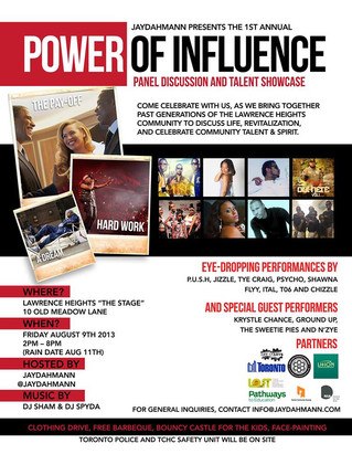 Power of Influence: Panel Discussion & Talent Showcase