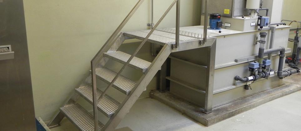 Treppe Industrie Sonderanfertigung mit L