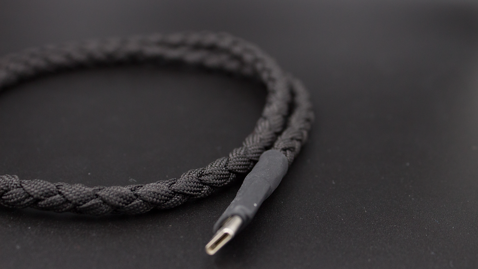 Black braided cable