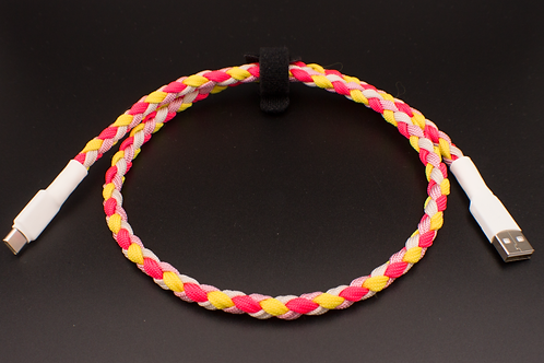 Strawberry Lemonade Braided cable